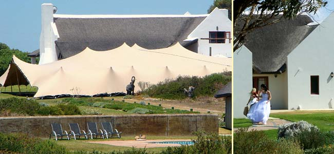 Outdoor venue for conferences, receptions and weddings at Draaihoek Lodge & Restaurant on the West Coast