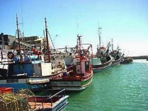 West Coast fishing harbour on the West Coast of South Africa.