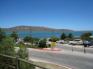 Picture of the Langebaan town center on the West Coast of South Africa.