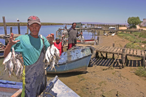 Picture of fisherman in Velddrif on the West Coast of South Africa