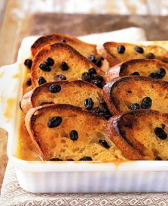 Traditional West Coast Bread and Butter Pudding