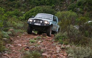 Rocky ascend on Jakkalskloof 4x4 trail