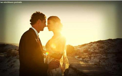Draaihoek Lodge's private beach ideal for secluded wedding ceremony at the west coast.