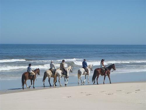 Horse riding for the adventurous on Draaihoek Lodge private beach.
